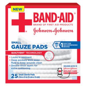J & J Band-Aid First Aid Gauze Pads 2″ x 2″ 10 CT