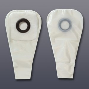 Ostomy Pouch Karaya 5 One-Piece System 1.5 X 12 Inch 1-1/4 Inch Stoma Drainable Integral Covexity