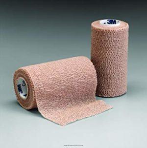 Coban Non-Sterile Self-Adherent Wrap 6″ x 5 yds., Tan