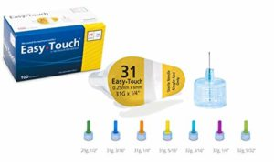 Easy Touch Pen Needle 31g 1/4in 50 COUNT