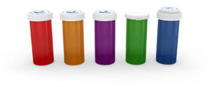 ColorSafe Reversible Cap Vials 8 Dram Amber