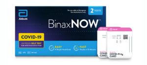 BinaxNOW COVID-19 Antigen Self Test (2 Tests per Box)