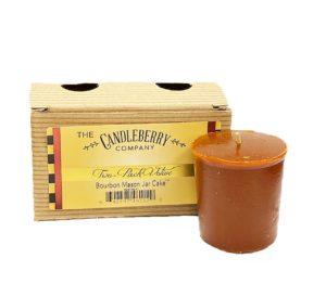 CandleBerry Bourbon Mason Jar Car 2 Pack Votive