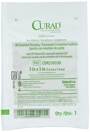 Medline – Curad Oil Emulsion Dressing 3×3 square