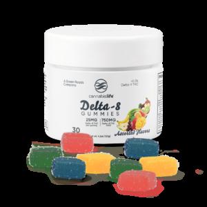 Green Roads Delta 8 Assorted Flavor Gummies 750mg