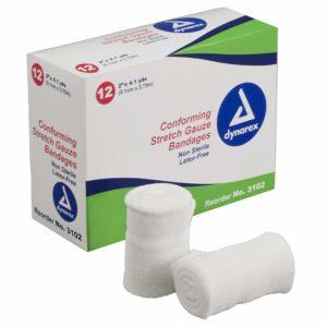 Stretch Gauze Bandage Roll N/S 2inch – 8/12/Cs