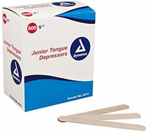 Tongue Depressors Wood Non-sterile Junior 5 1/2in 10/500/Cs