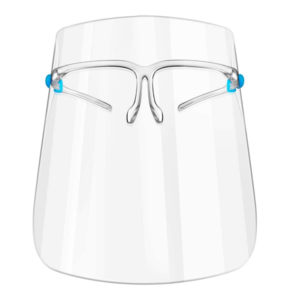 Faceshield with glasses