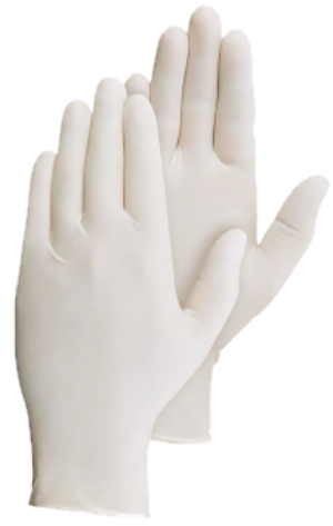 Latex Dispoable Medium Gloves