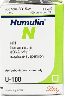 Humulin LILLY N vial. 10ml