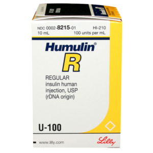 Humulin LILLY R vial. 10ml