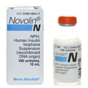 Nordisk Novolin N vial. 10ml