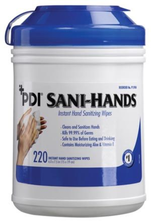 PDI Instant Hand Sanitizing Wipes Large 6in x 7.5in 220 Wipes