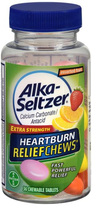 ALKA-SELTZER Heartburn Relief Chew Fruit 36ct