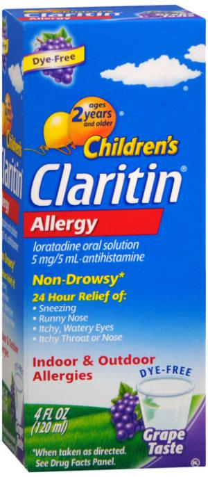 Claritin Childrens Grape Syrup 4oz