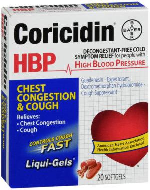 Coricidin HBP Chest Congestion & Cough 20ct