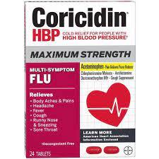 Coricidin HBP Multi Symptom Flu 24ct