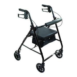 Probasics Aluminum Rollator 6in Wheels 300lb Capacity Black