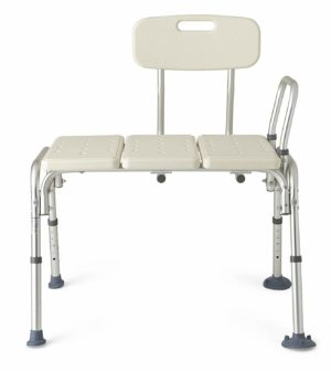 Roscoe Sliding Transfer Bench w/ Seat and Back